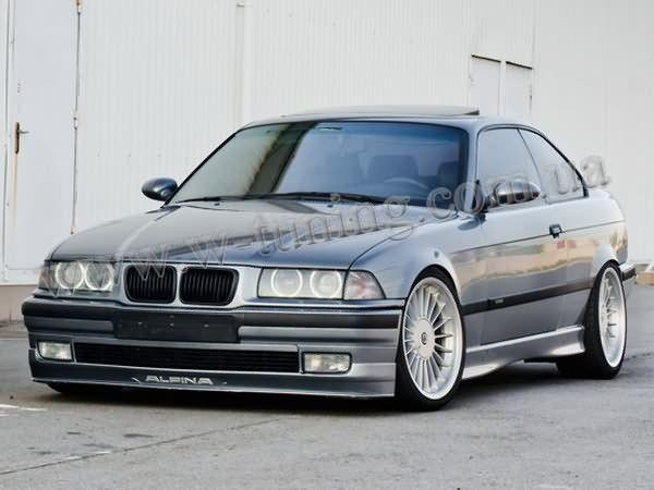 """Накладка на передний бампер BMW 3 E36 """"ALPINA"""""""