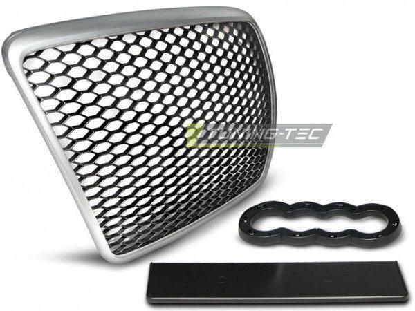 Решётка радиатора AUDI A6 C6 (2009-2011) RS серебряная