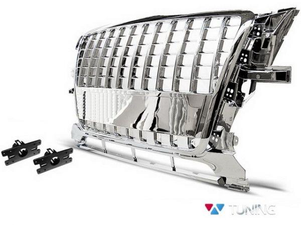 Решётка радиатора AUDI Q5 8R (2008-2012) S-LINE хром