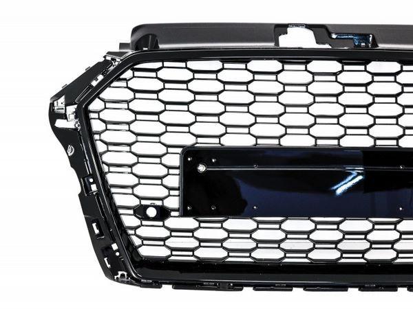 Решётка радиатора AUDI A3 8V (2017+) - RS стиль (чёрная) 2