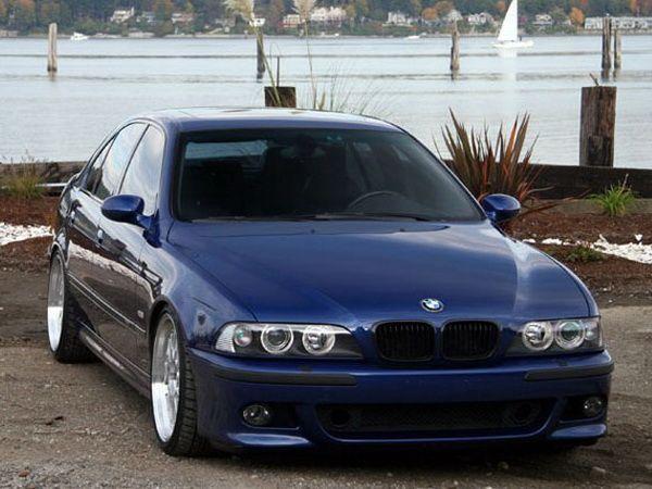 Решётка - ноздри BMW E39 (1995-2004) чёрная