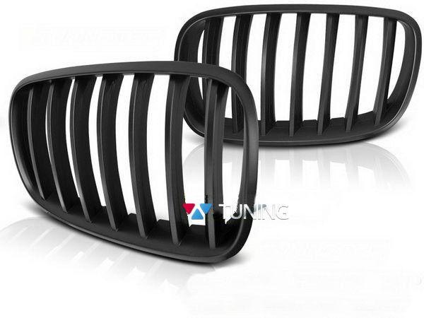 Решётка радиатора BMW X5 E70 / X6 E71 ЧЁРНАЯ