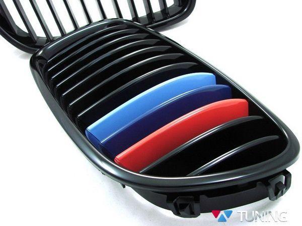 """Ноздри BMW F10/F11 (10-13) с полосками """"M-Performance"""""""