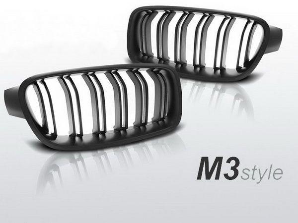 """Решётка (ноздри) BMW 3 F30/F31 (12-) """"M3"""" чёрная мат"""