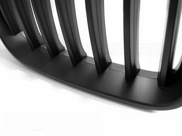 Решётка радиатора BMW X3 F25 (11-14) чёрный мат - крупный план