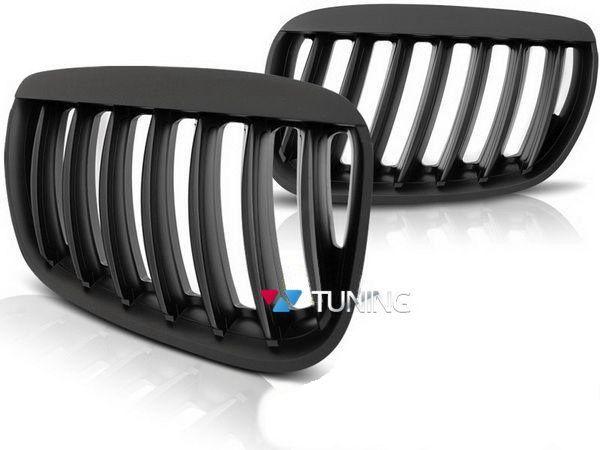 Решётка радиатора BMW X5 E53 (04-06) чёрный мат