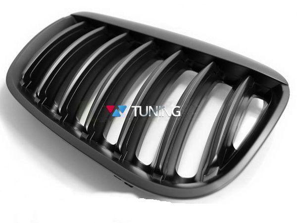 Решётка радиатора BMW X5 E53 (04-06) чёрный мат - фото #3