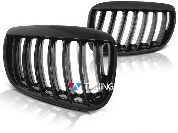 Решётка радиатора BMW X5 E53 (04-06) чёрный глянец