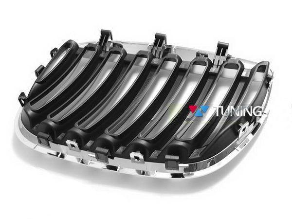 Решётка радиатора BMW X5 E53 (04-06) рестайлинг хром - фото #3