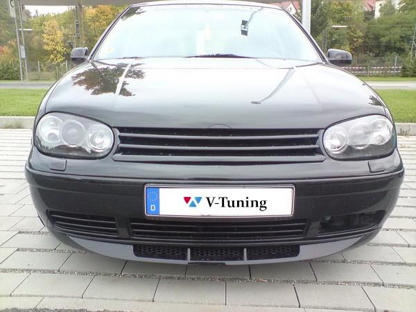 Решётка радиатора VW Golf 4 / IV - чёрная без логотипа 5