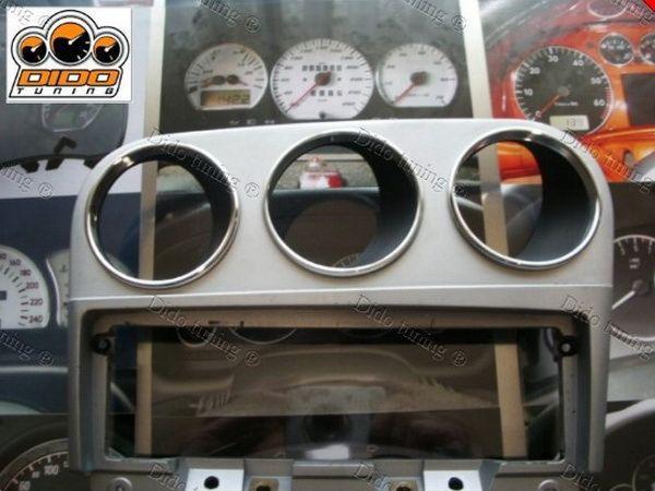 Кольца на дополнительные приборы ALFA ROMEO 156 - алюминий 3