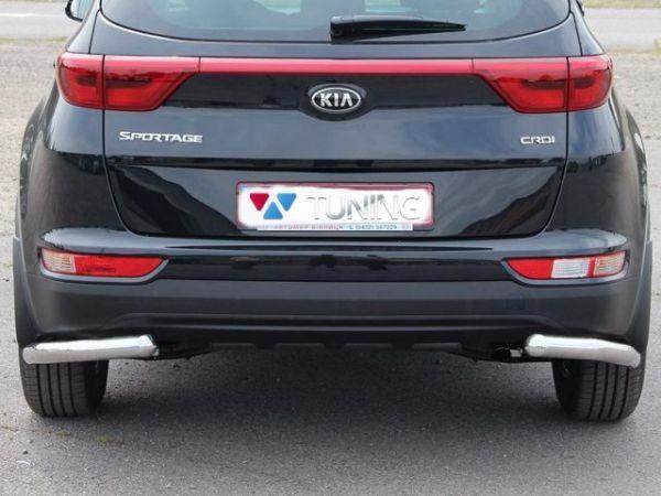 Защита задняя KIA Sportage IV (2016-) трубки на углы одинарные