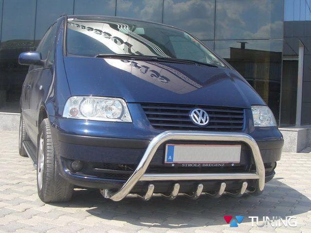 Кенгурятник VW Sharan (1995-2010) с грилем