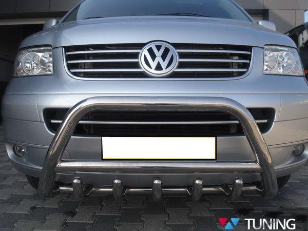 Кенгурятник VW T5/T5+ (2003-2015) с грилем - фото #4