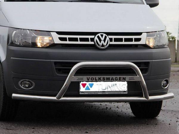 Кенгурятник с усами VW T5+ (2010-2015) рестйлинг