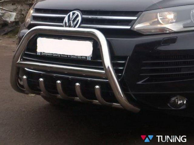 Кенгурятник VW Touareg II (2011-) с грилем