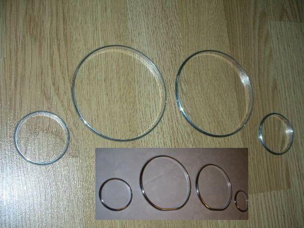 Кольца в щиток приборов OPEL Vectra C (2002-2009)