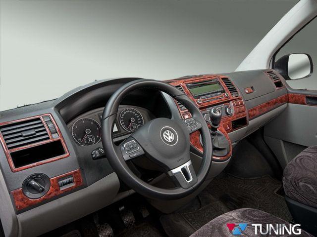 Накладки на торпедо VW T5+ (10-15) рестайлинг дерево