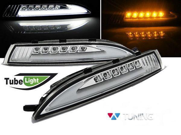 Повороты с габаритами VW Scirocco III (08-14) хром LED
