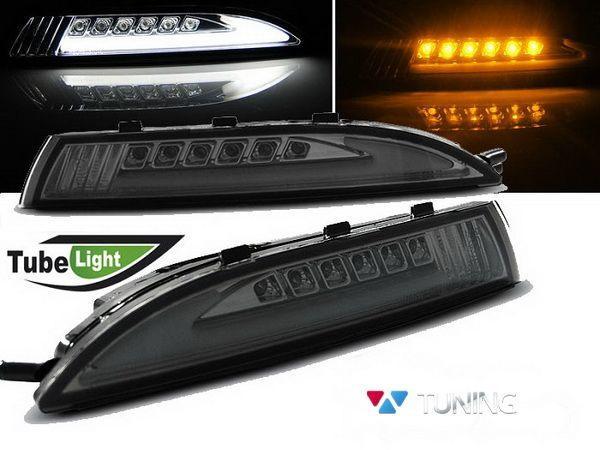Повороты с габаритами VW Scirocco III (08-14) дымчатые LED