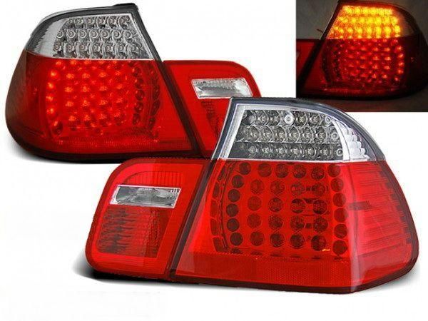 Стопы BMW E46 (98-01) Sedan RED WHITE LED