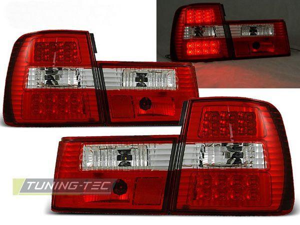 Фонари задние BMW E34 Sedan КРАСНО-БЕЛЫЕ LED