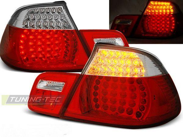 Стопы BMW E46 (99-03) Cabrio RED WHITE LED