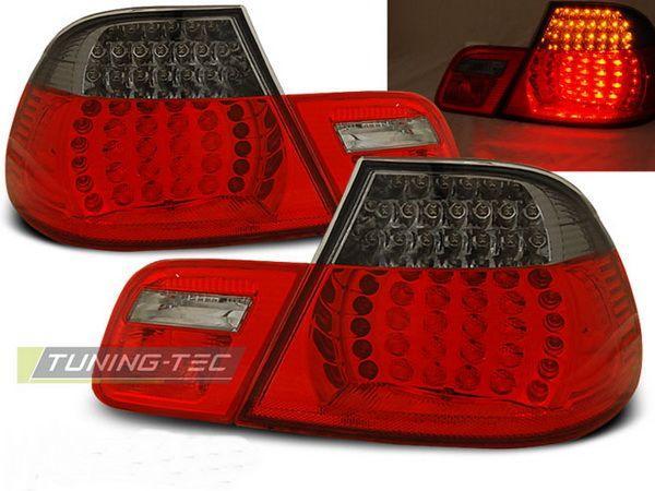 Стопы BMW E46 (99-03) Cabrio RED SMOKE LED