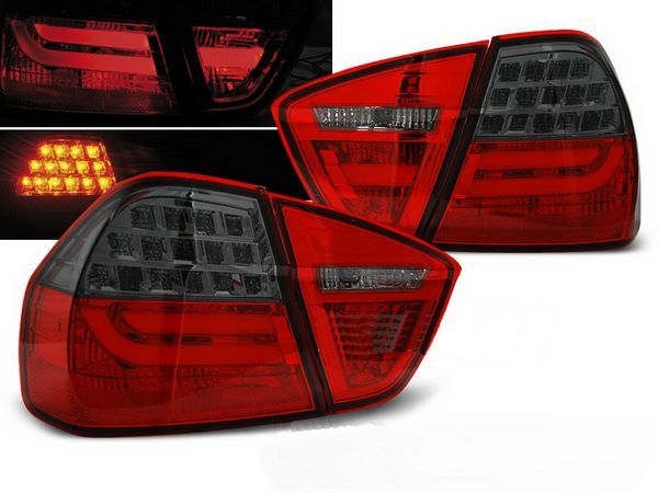 Стопы BMW E90 (05-08) RED SMOKE LED BAR
