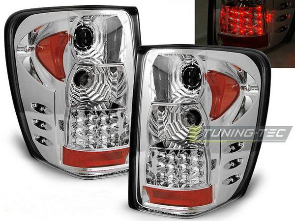 Фонари задние JEEP Grand Cherokee WJ (99-04) ХРОМ LED