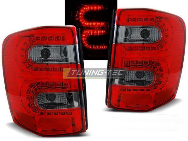 Стопы JEEP Grand Cherokee WJ (99-04) КРАСНО-ДЫМЧАТЫЕ LED