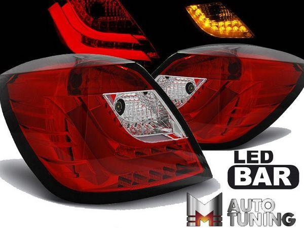 Фонари задние OPEL Astra H GTC (05-10) 3D RED WHITE LED