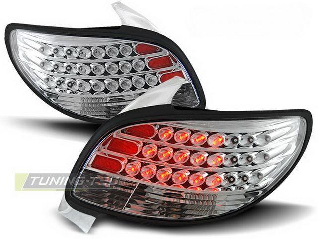 Фонари задние PEUGEOT 206 Hatchback CHROME LED