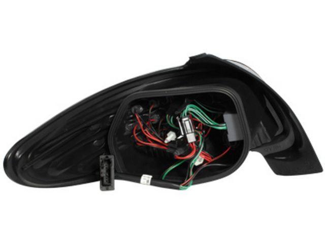 Фонари задние PEUGEOT 206 Hatchback BLACK LED вид сзади