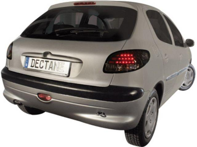 Фонари задние PEUGEOT 206 Hatchback BLACK LED на авто
