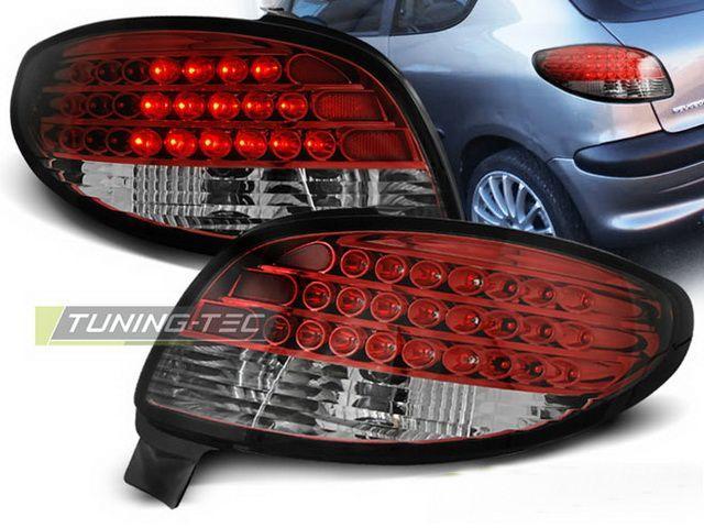 Фонари задние PEUGEOT 206 Hatchback LED красные