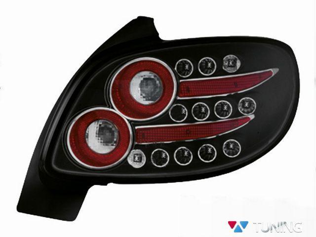 Стопы PEUGEOT 206 Hatchback чёрные диодные