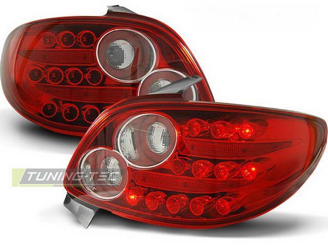 Стопы PEUGEOT 206 Hatchback красные диодные