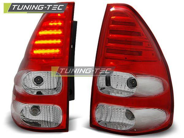 Фонари задние TOYOTA LC 120 Prado III RED/WHITE LED