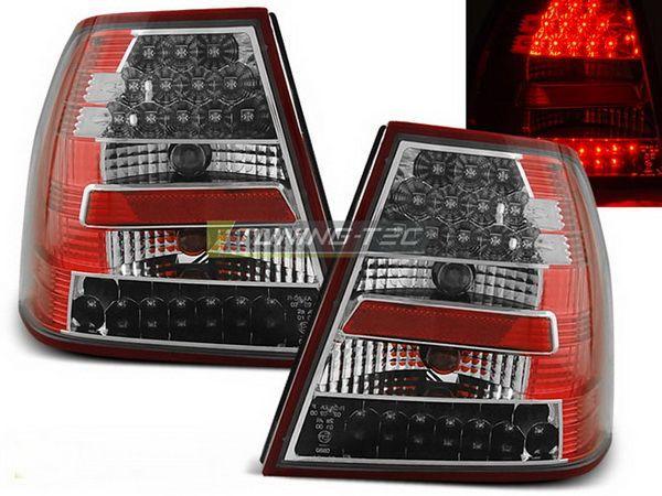 Стопы задние VW Bora A4 Sedan RED WHITE LED