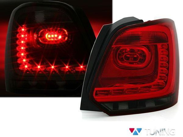 Фонари задние VW Polo Mk5 6R (09-14) HB RED SMOKE LED