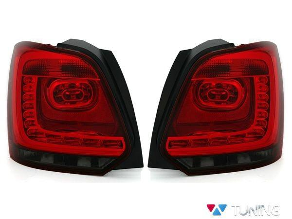Фонари задние VW Polo Mk5 6R (09-14) HB RED SMOKE LED
