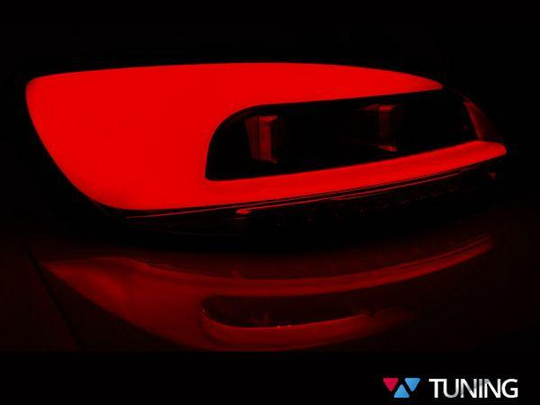Стопы VW Scirocco III (08-14) красно-дымчатые LED BAR