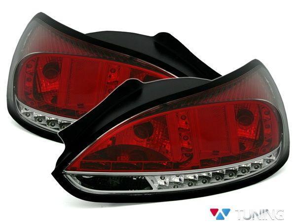 Фонари задние VW Scirocco III (08-14) красно-белые LED