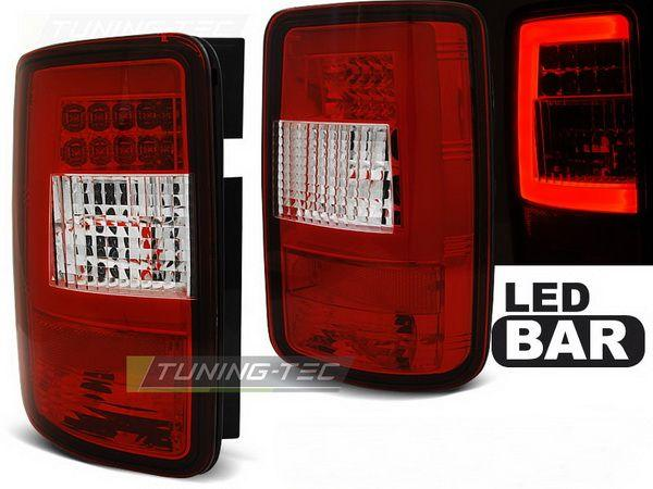 Фонари задние VW Caddy III (04-14) RED WHITE LED BAR