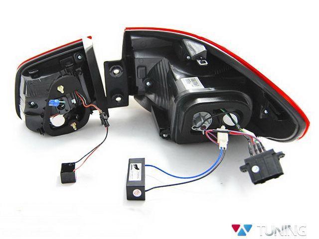 Фонари задние VW Tiguan I (11-15) рестайл красные LED BAR вид сзади