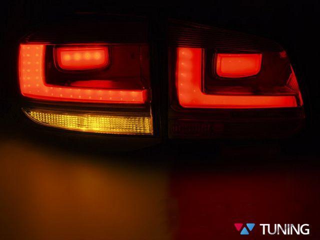Фонари задние VW Tiguan I (11-15) рестайлинг - дымчатые LED BAR 3
