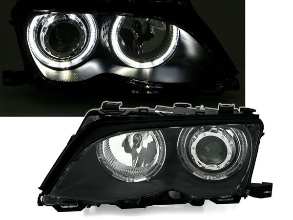 Фары передние BMW E46 (01-05) S/T ANGEL EYES BLACK
