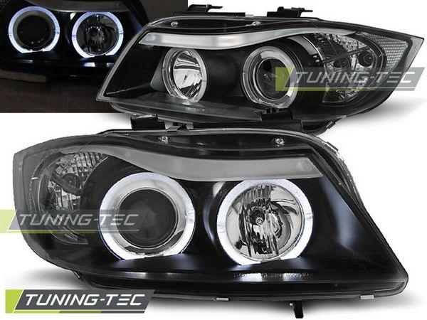 Фары BMW E90 / E91 (05-08) ANGEL EYES BLACK