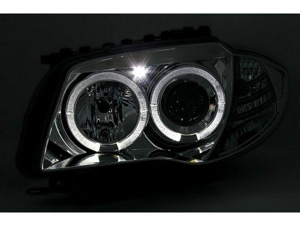 Фары BMW 1 E87 / E81 (04-07) ANGEL EYES BLACK